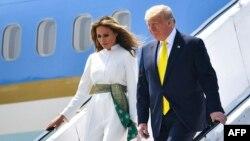 Presidenti i Shteteve të Bashkuara, Donald Trump, dhe zonja e parë, Melania.
