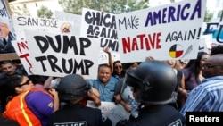 Трампка каршы демонстранттар. Сан-Хосе, 2-июнь, 2016-жыл.