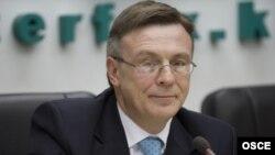 Действующий председатель ОБСЕ, глава МИД Украины Леонид Кожара.