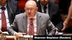 Постійний представник Росії в ООН Василь Небензя має взяти вступне і кінцеве слово на суперечливій відеоконференції навколо статусу Криму, який Росія силою захопила 2014 року
