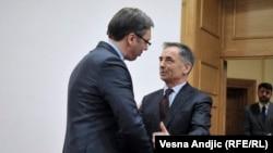 Aleksandar Vučić i Milorad Pupovac
