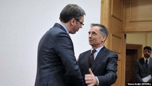 Aleksandar Vučić i Milorad Pupovac, fotoarhiv
