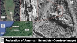 The Federation of American Scientists say a buried nuclear weapons storage bunker in the Kaliningrad district has been under major renovation since mid-2016.