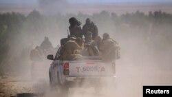 نیروهای ائتلاف دموکراتیک سوریه در حال انتقال به سوی الشدادی در استان شمالی حسکه