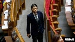Народний депутат, український режисер Гео Лерос у залі засідання Верховної Ради України