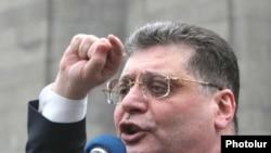 Հայաստան -- «Նոր ժամանակներ»-ի առաջնորդը ելույթ է ունենում ընդդիմության հանրահավաքում, 12-ը հունիսի, 2009 թ.