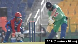 آرشیف، بازی تیمهای کریکت افغانستان و ایرلند در امارات متحده عربی