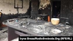 ОфісТовариства угорської культури Закарпаття в Ужгороді після пожежі, 27 лютого 2018 року