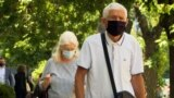 Kosovo: People in prishtina wearing masks, as new anti-Covid measures are introduced
