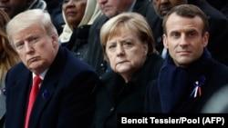 Дональд Трамп, Ангела Меркель і Еммануель Макрон, архівне фото