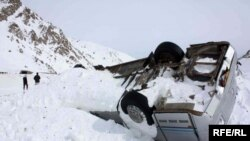 FILE: A vehicle is seen covered with snow after avalanches killed at least 157 people in Salang tunnel in February, 2010.