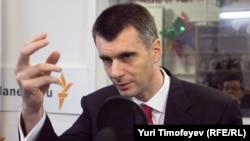 Ресейлік бизнесмен Михаил Прохоров Азаттық радиосына сұқбат беріп отыр. Мәскеу, 19 қаңтар 2012 жыл.