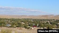 Хантағы ауылының жалпы көрінісі. Оңтүстік Қазақстан облысы, 5 қазан 2017 жыл.