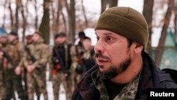 Пророссийские сепаратисты во время учений в Донецкой области в Украине. 8 декабря 2014 года.