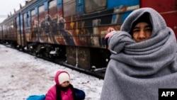 Мигранти во Прешево.