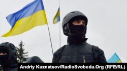 Luqanskda Ukraynanın birliyinin tərəfdarlarının aksiyası, 13 aprel 2014