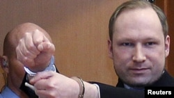 Norwegian right/wing extremist Anders Behring Breivik