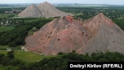 Донбасс. Горы выбранной из шахты породы