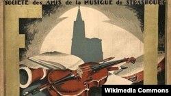 Afișul primei ediții a Festivalului de la Strasbourg (1932)