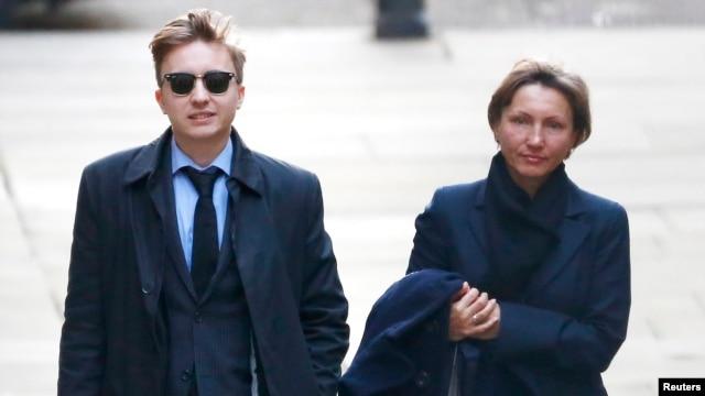 Марина Литвиненко и ее сын Анатолий, 2 февраля 2015 года, Лондон