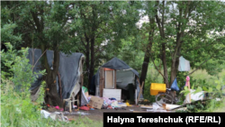 The Roma camp near Lviv where the attack took place on June 24.