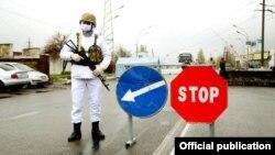 Бишкектеги санитардык пост.