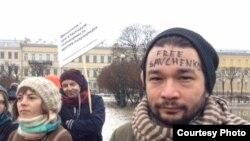 На митинге в защиту прав женщин (Петербург, 8 марта 2016 года)