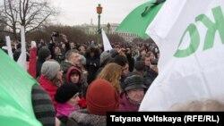 Акция в память о Борисе Немцове в Петербурге