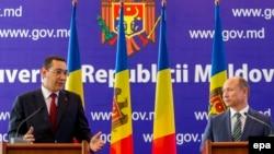 Victor Ponta şi Valeriu Streleţ, Chişinău, 27 august 2015