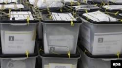 Glasačke kutije sa prethodnih izbora na Kosovu