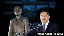 Milorad Dodik na otvaranju spomenika Gavrilu Principu u Beogradu