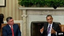 باراک اوباما طی دیدار با ملک عبدالله بار دیگر به سوریه هشدار داد