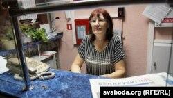 59-гадовая Любоў, якая працуе вахтарам уінтэрнаце