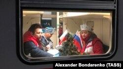 В первом поезде из Симферополя в Москву