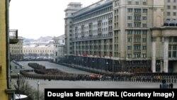 Scenă de la funeraliile lui Stalin din martie 1953, fotografie din arhivele Manhoff