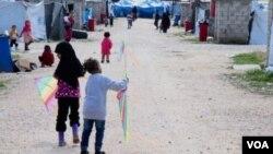 Әл-Рож лагерінде жүрген балалар. Наурыз, 2019 жыл.