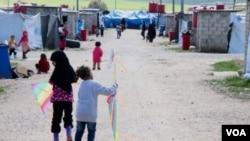 Дети в лагере аль-Рож. Март 2019 года.
