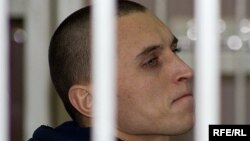 Раман Мянцюк падчас суду, 2008 год