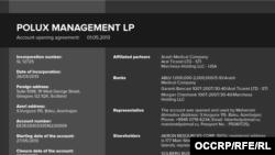POLUX MANAGEMENT , una din firmele britanice implicată în schema de spălare de bani