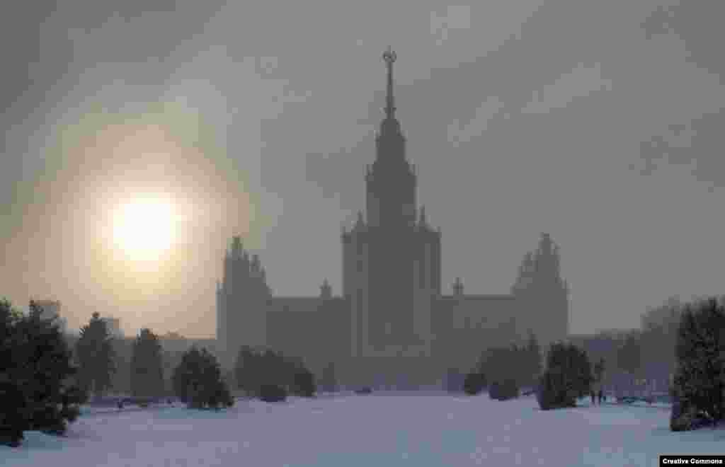The construction of the building was documented in a Soviet-era propaganda film. According to one Russian newspaper, the money spent to build the ambitious structure could have paid for an entire town fit for 40,000 people.