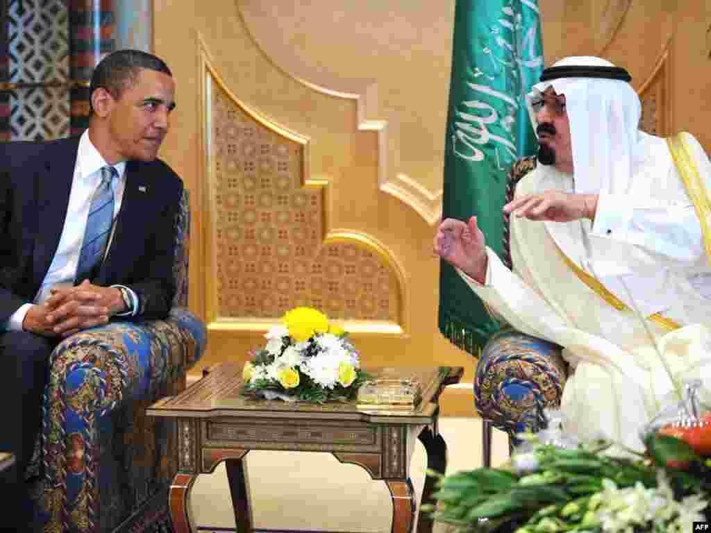 Saudijska Arabija - Kralj Abdullah bin Abdul Aziz al-Saud u razgovoru sa Predsjednikom SAD