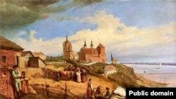 Плоцьк. 1852 р. (Картина Войцеха Герсона. Полотно і олія)