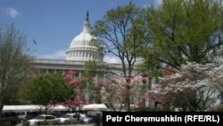 Здание конгресса США в Вашингтоне.