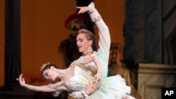 "Natalia Osipova and David Hallberg perform in ""The Sleeping Beauty"" in New York last year."
