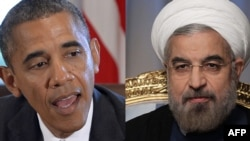 The election of reformist President Hassan Rohani (right) has seen a slight thaw in relations with the U.S. administration of President Barack Obama. (left)