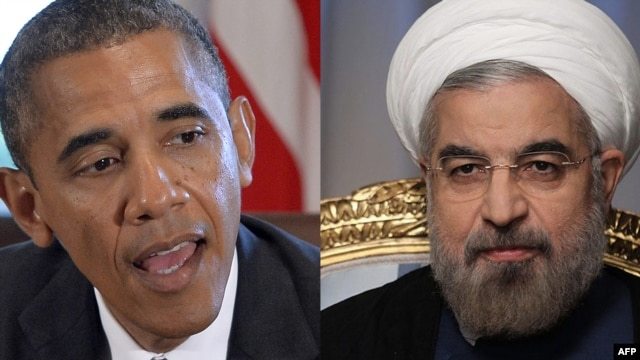 A combo photo shows U.S. President Barack Obama (left) and Iranian President Hassan Rohani.