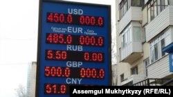 Пункт обмена валют в Нур-Султане. 19 марта 2020 года.