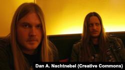 "Группа Darkthrone, справа – Гюльве ""Fenriz"" Нагелль"