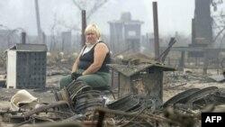 То, что осталось после пожара от деревни Моховое