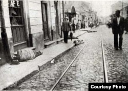 Imagine din Iași la orele pogromului